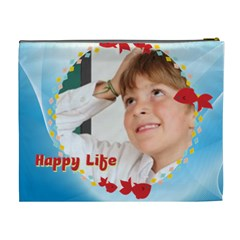 Happy Life By May   Cosmetic Bag (xl)   8q17a7r7fucf   Www Artscow Com Back