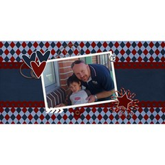 3d Card: Dad 2 By Jennyl   #1 Dad 3d Greeting Card (8x4)   Wqd13kwkhacs   Www Artscow Com Front