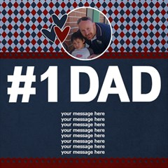 3d Card: Dad 2 By Jennyl   #1 Dad 3d Greeting Card (8x4)   Wqd13kwkhacs   Www Artscow Com Inside