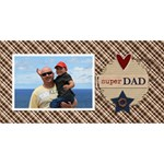 3D Card: Dad 3 - #1 DAD 3D Greeting Card (8x4)