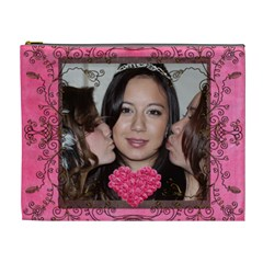 Kiss the Bride extra large cosmetic bag by Catvinnat Front