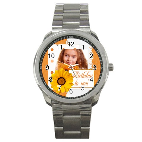 Happy Birthday By Joely   Sport Metal Watch   Bwf8j2yo8mkz   Www Artscow Com Front