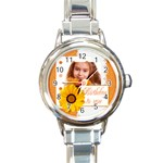 happy - Round Italian Charm Watch