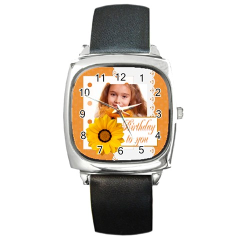 Hb By Joely   Square Metal Watch   7h4j4o6yk6lk   Www Artscow Com Front