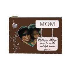 Mom And Jayna By Meredith Hazel   Cosmetic Bag (large)   Ks8ol5fwmxf3   Www Artscow Com Front