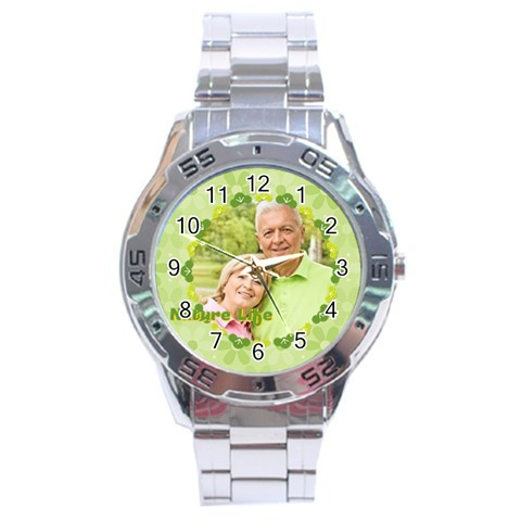 Nature Life By May   Stainless Steel Analogue Watch   Asu0i782uy4y   Www Artscow Com Front