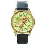 Nature life - Round Gold Metal Watch