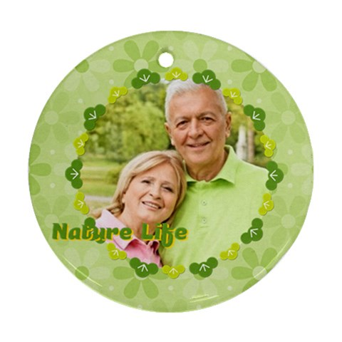 Nature Life By May   Ornament (round)   2n0lek6l2vby   Www Artscow Com Front