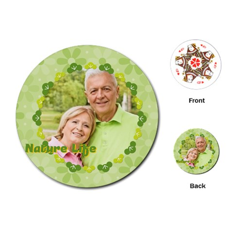 Nature Life By May   Playing Cards (round)   Jj45jeiu4sr6   Www Artscow Com Front