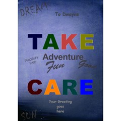 Take Care 3d Card By Deborah   Take Care 3d Greeting Card (7x5)   P75ha655invh   Www Artscow Com Inside