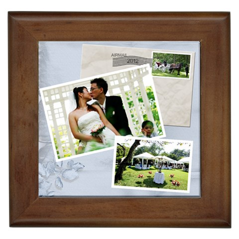 Wedding Tile By Deborah   Framed Tile   710rb9xfsd7e   Www Artscow Com Front