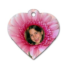 Petal Heart Dog Tag (2 Sided) By Deborah   Dog Tag Heart (two Sides)   M9wsrgmfl7b9   Www Artscow Com Front