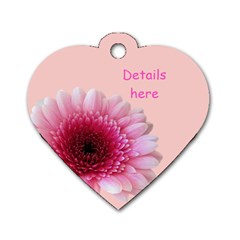 Petal Heart Dog Tag (2 Sided) By Deborah   Dog Tag Heart (two Sides)   M9wsrgmfl7b9   Www Artscow Com Back