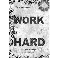 Work Hard 3d Card By Deborah   Work Hard 3d Greeting Card (7x5)   Udg989sp0t0a   Www Artscow Com Inside