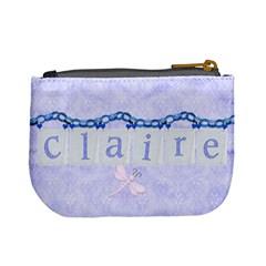 Blue Fairy Mini Coin Purse By Claire Mcallen   Mini Coin Purse   Svtj304iql7f   Www Artscow Com Back
