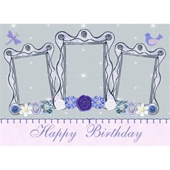 Happy Birthday Card 3d By Claire Mcallen   Birthday Cake 3d Greeting Card (7x5)   Fdagvgplyito   Www Artscow Com Front