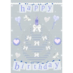 Happy Birthday Card 3d By Claire Mcallen   Birthday Cake 3d Greeting Card (7x5)   Fdagvgplyito   Www Artscow Com Inside