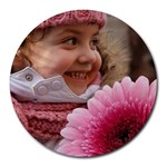 Flower Child Mouse Pad - Round Mousepad