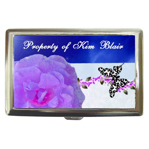 Blue Flower Money/cigarette Case By Kim Blair   Cigarette Money Case   Jmj7yxgd9srq   Www Artscow Com Front
