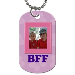 Purple Blossom Tag By Patricia W   Dog Tag (two Sides)   Gorzwb9ipn3p   Www Artscow Com Back