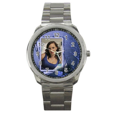 My Love Sports Watch By Deborah   Sport Metal Watch   441guijzoeyq   Www Artscow Com Front