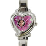 My flower Heart Charm Watch - Heart Italian Charm Watch
