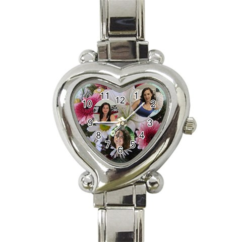 Flower Heart Watch By Deborah   Heart Italian Charm Watch   V625gg7pekxf   Www Artscow Com Front