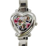 Flower heart watch - Heart Italian Charm Watch