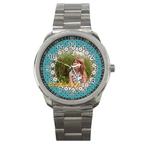 Beautiful Girl By May   Sport Metal Watch   1iqojos32y2u   Www Artscow Com Front