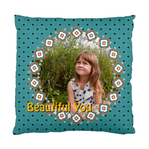 Beautiful Girl By May   Standard Cushion Case (one Side)   M7fvb5b5kfz0   Www Artscow Com Front
