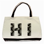 HI (hearts) - Basic Tote Bag