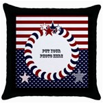 4TH JULY CUSHION - Throw Pillow Case (Black)