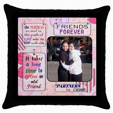 Rivky 2 By Naomi   Throw Pillow Case (black)   Pe91omixhqz6   Www Artscow Com Front