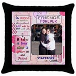 rivky 2 - Throw Pillow Case (Black)