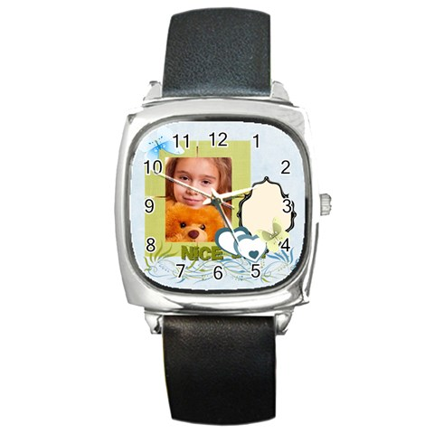 Nice Day By Joely   Square Metal Watch   Xytoxxn9lm00   Www Artscow Com Front
