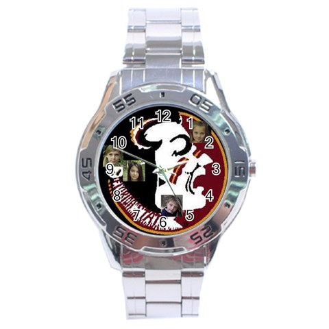 Trey Fathers Day By Stacy    Stainless Steel Analogue Watch   3s99xp0qosyo   Www Artscow Com Front