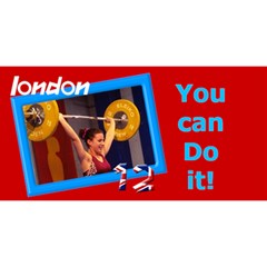 London Support 3d Believe Card By Deborah   Believe 3d Greeting Card (8x4)   875411kfrce8   Www Artscow Com Front