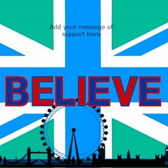 London Support 3d Believe Card By Deborah   Believe 3d Greeting Card (8x4)   875411kfrce8   Www Artscow Com Inside