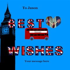 Best Wishes London 3d Card By Deborah   Best Wish 3d Greeting Card (8x4)   K23y9otp9j7c   Www Artscow Com Inside