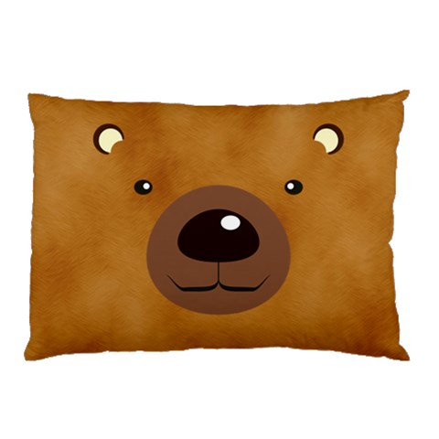 Bear By Divad Brown   Pillow Case   Wmxilyj2yr3b   Www Artscow Com 26.62 x18.9 Pillow Case