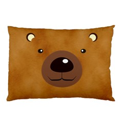 Bear By Divad Brown   Pillow Case (two Sides)   Rfwysl54oq1t   Www Artscow Com Front