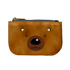 Bear By Divad Brown   Mini Coin Purse   Zgzwkrq02upl   Www Artscow Com Front
