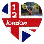 London 12B  puzzle - Jigsaw Puzzle (Heart)