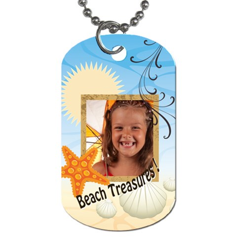 Summer By Joely   Dog Tag (one Side)   O8ot11xt374f   Www Artscow Com Front