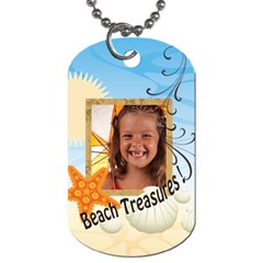 Summer By Joely   Dog Tag (two Sides)   Ltwrvl0a7rmi   Www Artscow Com Front