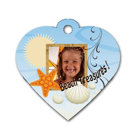 Summer By Joely   Dog Tag Heart (one Side)   09f23xcigi6m   Www Artscow Com Front