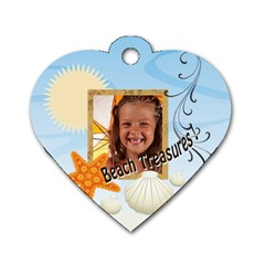 Summer By Joely   Dog Tag Heart (two Sides)   Tviuvpue6db9   Www Artscow Com Front