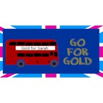Go for Gold 3d Card - Best Wish 3D Greeting Card (8x4)