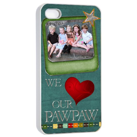 Pawpaw Phone By Amy Oreilly   Apple Iphone 4/4s Seamless Case (white)   3btfilmc8wde   Www Artscow Com Front