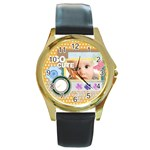 so cute - Round Gold Metal Watch